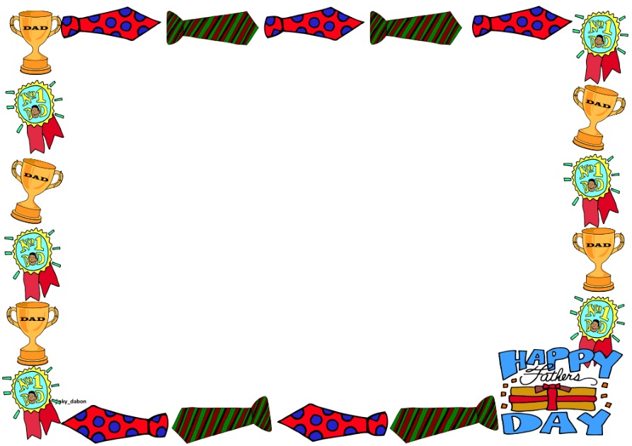 Fathers Day Clipart Border