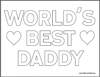 Fathers Day Pictures to Color