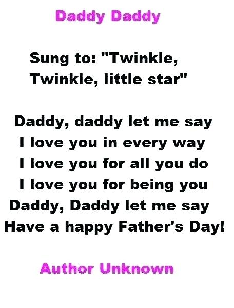 Fathers Day Poems From daughter
