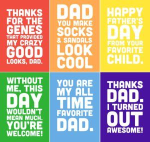 Funny Fathers day Cards from daughter