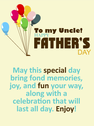 Happy Father's Day Cards for Uncle