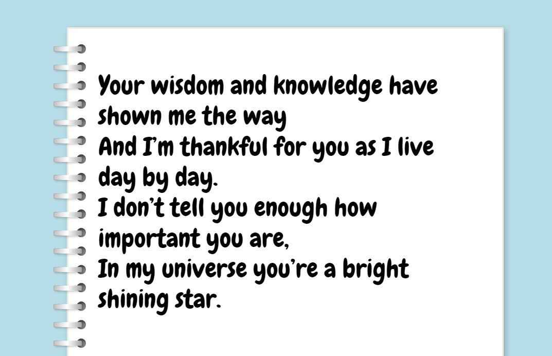 Short positive poems
