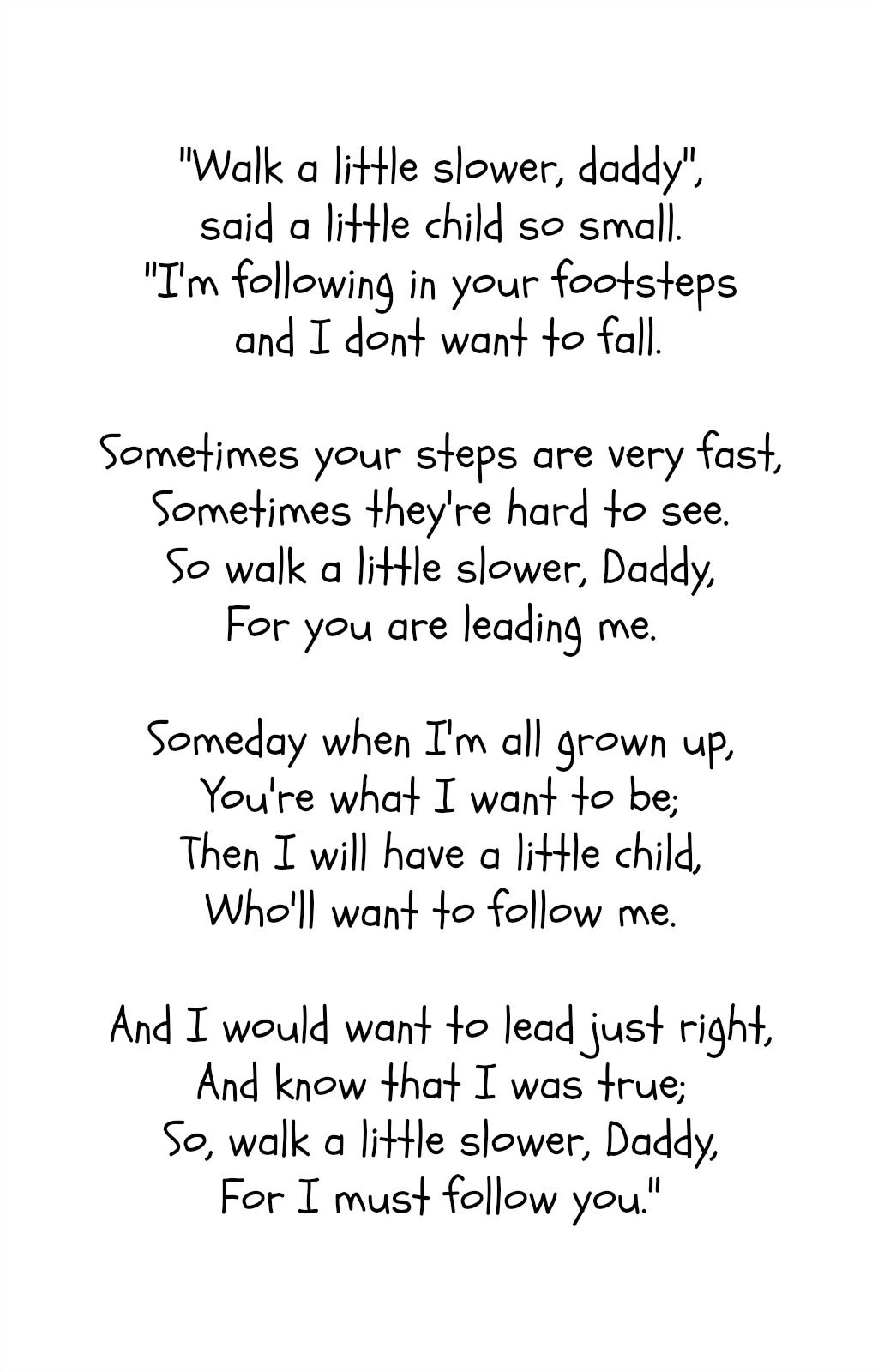 fathers day poem from kids