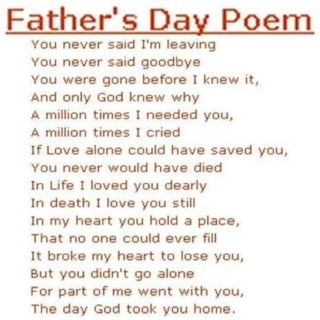 fathers day poems for church programs