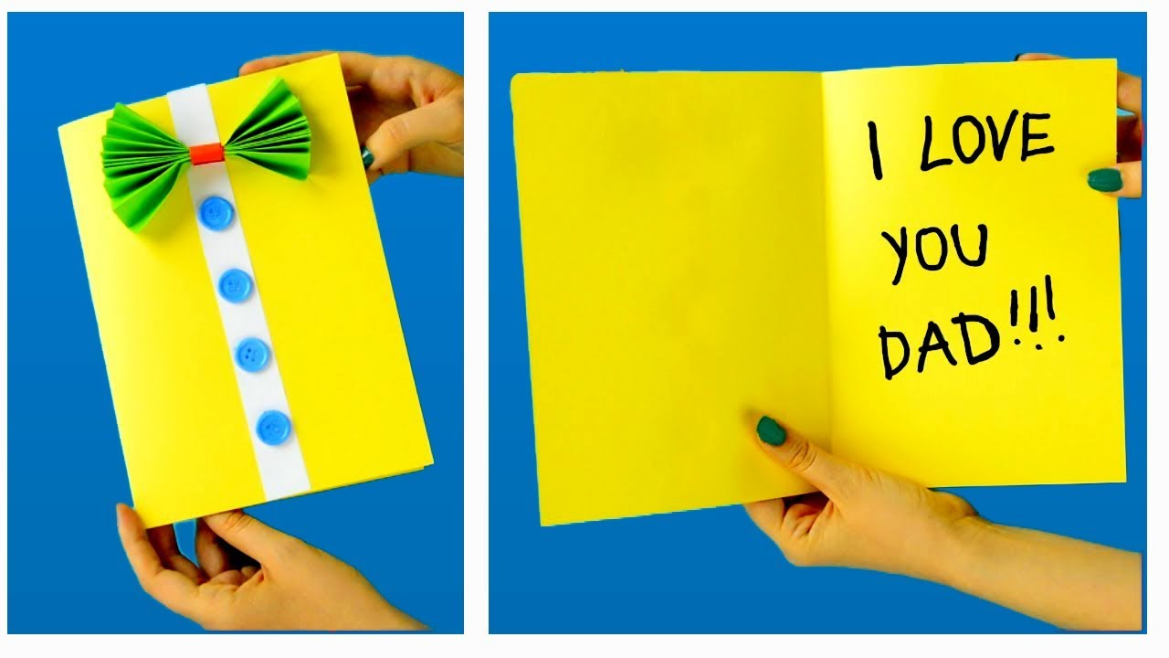 homemade easy fathers day card ideas