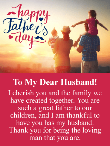 Happy Fathers Day Greetings To Husband