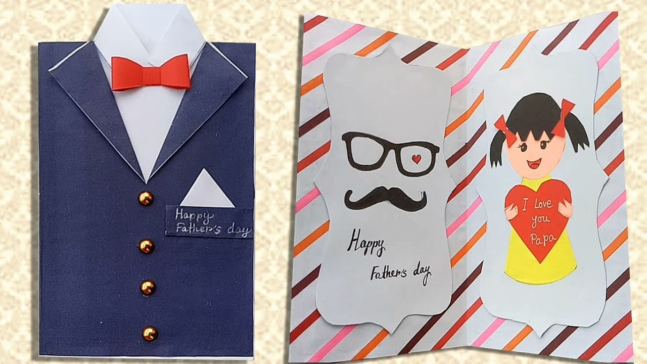 Homemade Fathers Day Greeting Card